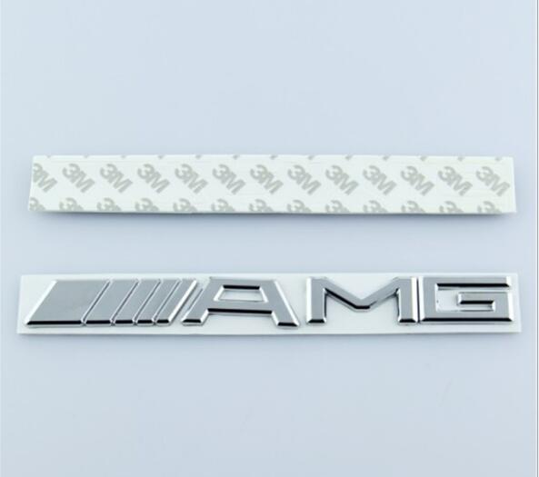 Metal Silver Chrome Black 3M AMG Decal Sticker Logo Emblem Car Badges for CL GL SL ML A B C E S class Car