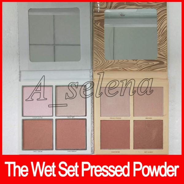 2018 The Wet Set gepressten Puder Christmas Holiday Collection Lidschatten Palette Illuminating Powder 4 Farbe Dhl frei