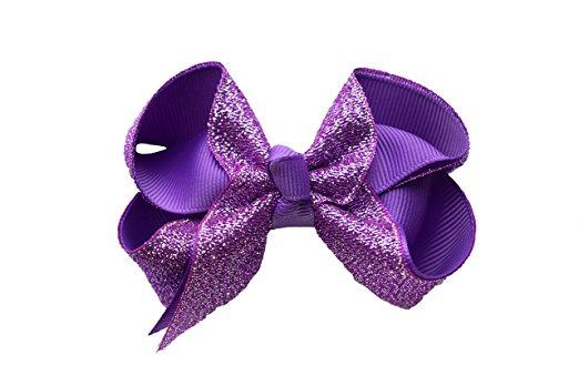 Hair Bows For Girls Boutique Hair Bows Sequin Alligator Clips Bows For Toddlers Kids Children Teens Grosgrain Adorable Gift Set 12pcs