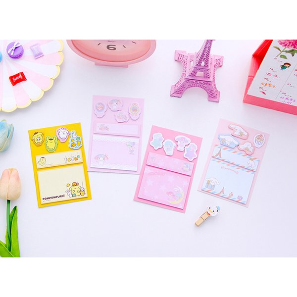 K03 60 Pages /Pack Kawaii Memo Pad Sticky Notes Message Paper Writing School Office Supply Notepad Student Stationery