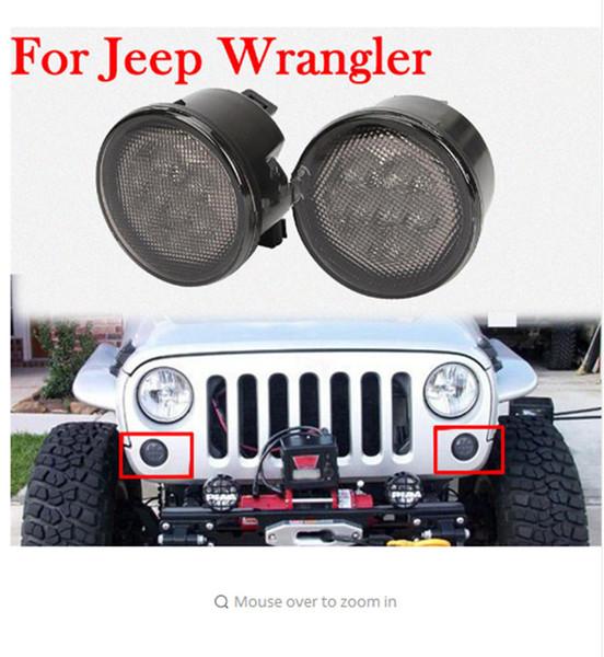 best selling Wrangler jk Front LED Turning Signals For Jeep Wrangler JK Fender Flares Lights For Jeep Wrangler