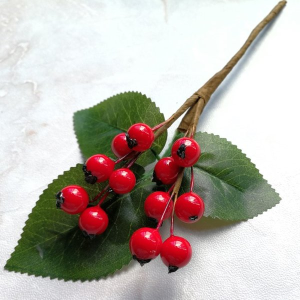 Artificial Vivid Berry Simulation Flowers Fruits DIY Home Decoration Artificial Fake Plants Wedding Christmas Decoration Flowers
