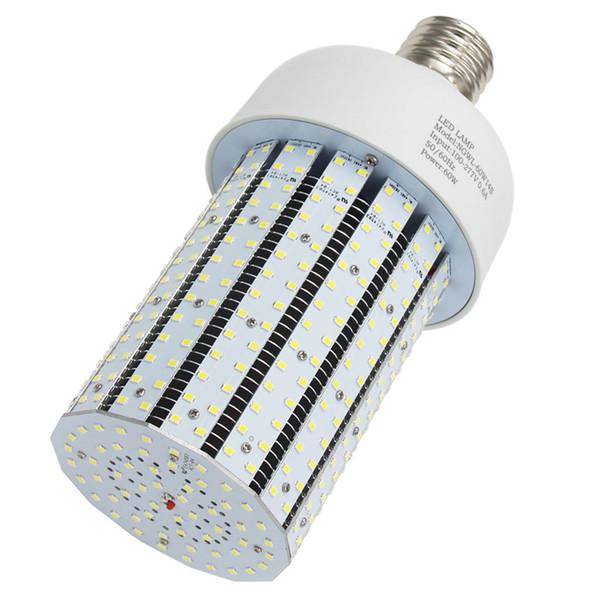 277 V LED Corn Bulb 60 W Vite di montaggio a base di viti Mogul High Bay Sostituisci 200W CFL / 250 W di alogenuri metallici HPS per Lampade da giardino di magazzino