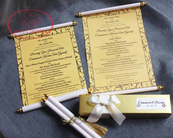 Golden 50th Anniversaire Carte avec photo et correspondants Boîte personnalisée