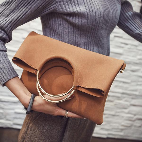 VALENMISA Suede Party Frauen Handtaschen Geldbeutel Und Handtaschen Hohe Qualität Retro Designer Umschlag Schulter Messenger Bags 2018