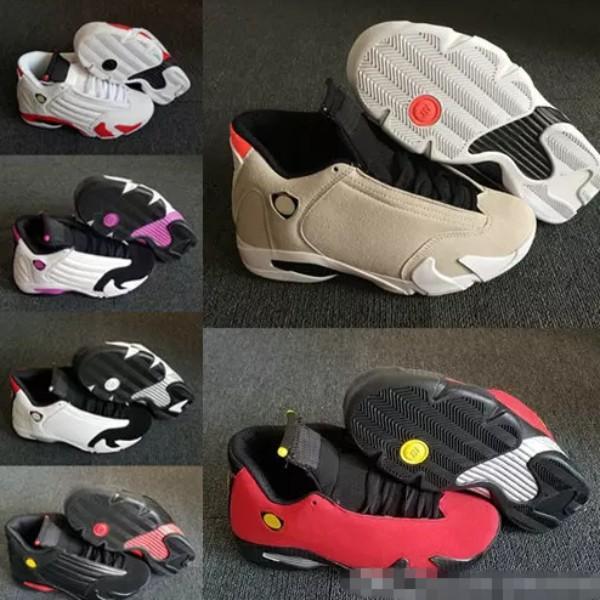 2018 14 XIV DESERT SAND Men Women Basketball Shoes 14s BRED LAST SHOT Black Toe Candy Cane Sports Sneakers Outdoor Athletics Shoe 36-47