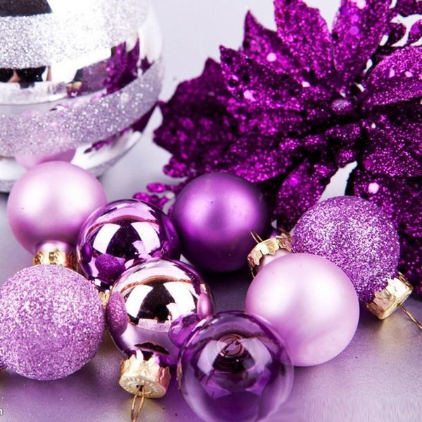 3cm Christmas Tree Christmas Balls Ornament Hanging Baubles Decorations for Xmas Party New Year DIY Decoration 24PCS/SET 8zHH181