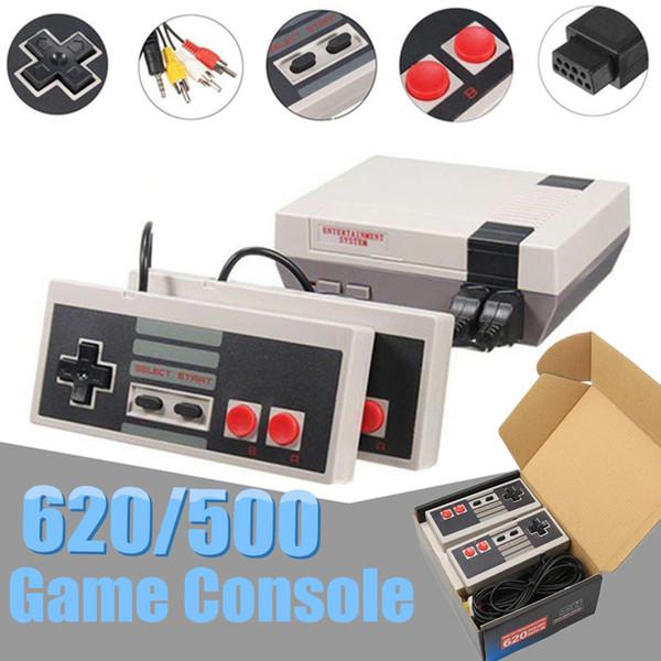 Retro Handheld 620 500 Consola de juegos Consolas de videojuegos familiares Control infantil de doble asa para niños con paquete al por menor Envío de DHL