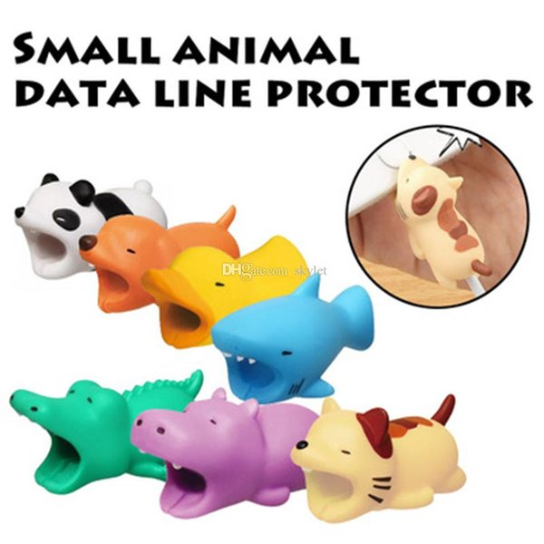Hot 36styles Cable Bite Animal Bite Cable Protector Accessory Toys Cable Bites Dog Pig Panda Axolotl for iPhone Charger Cord with Retail Box