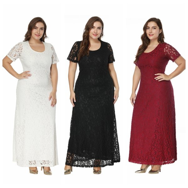2019 Lace Plus Size Special Occasion Dresses For Women Short Sleeve Mermaid  Wedding Dresses Elegant Maxi Dresses From Tinaguo977, $22.45 | DHgate.Com