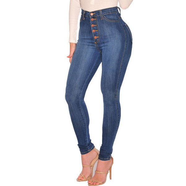 Summer Style 2018 Hole Ripped Jeans Women Jeggings Cool Denim Pants High Waist Capris Female Skinny Blue Casual Jeans