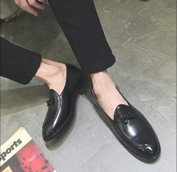 NEW style Italian tassel business men shoes leather elegant formal dress flats designer office footwear oxford shoe G278