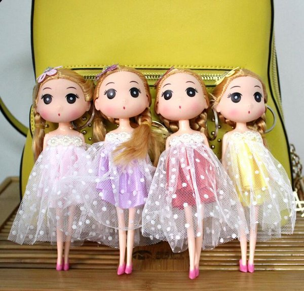 18cm Korean girl wedding confused doll wedding doll married bride key chain pendant creative gift wholesale