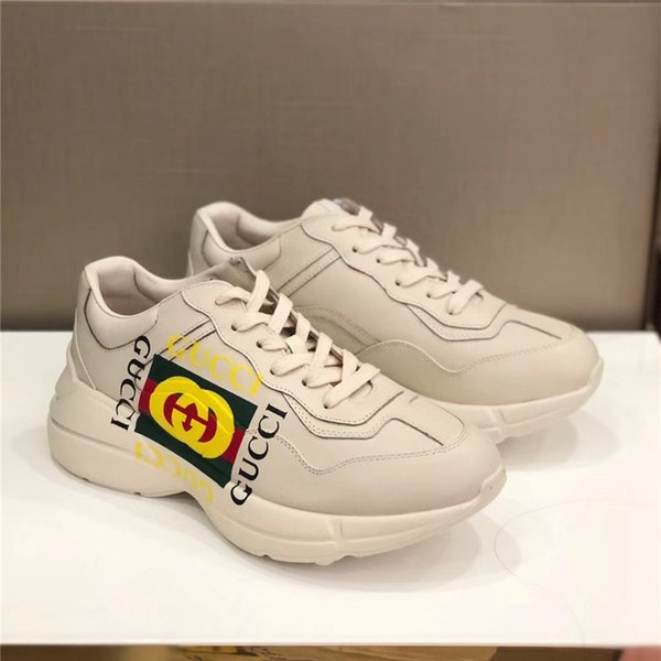 dc98ffa8ce RHYTON LEATHER SNEAKER LUXURY BRAND DESIGNER WOMEN AND MEN CASUAL SHOES  RUNNING BASKETBALL SNEAKER SIZE 35 44 Nude Shoes Orthopedic Shoes From ...