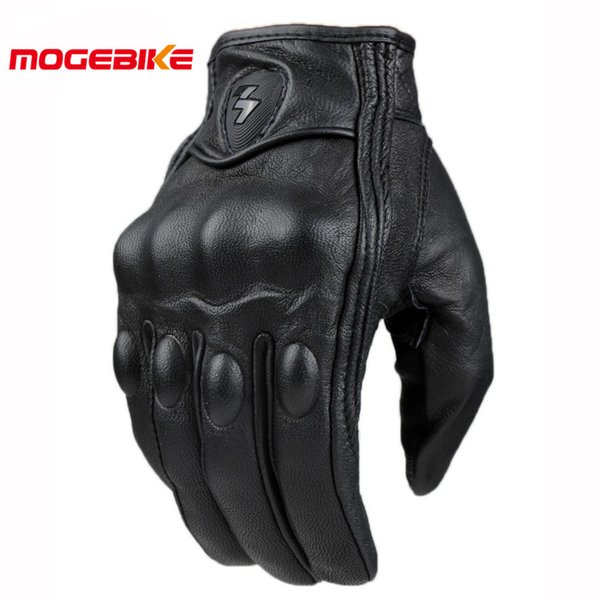 Retro Pursuit Perforierte Echtes Leder Motorrad Handschuhe Moto Wasserdichte Handschuhe Motorrad Schutz Gears Motocross Handschuhe geschenk