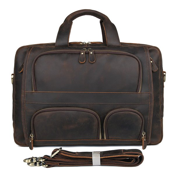 High Quality Cow Leather Bag Men Famous Brand Shoulder Bag Men Messenger Bags Fashion Men's Travel Bags Briefcase Laptop