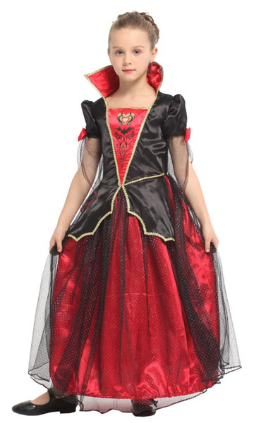 Shanghai Story Vampire Costume for Kids Children Princess Queen Cosplay Carnival Purim Masquerade Role play party Evening dress