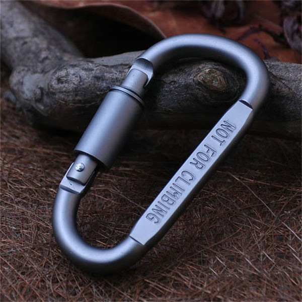Aluminium Alloy Carabiners Ring Camping Hiking Portachiavi Keychain D Shape Hook Buckle For Outddor Bag Rope Hang 1 24hj ZZ