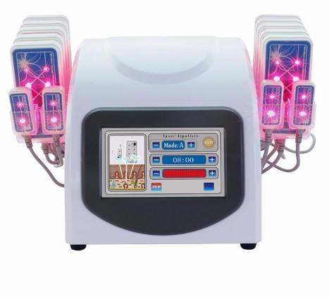 The Newest Professional 14080mw 635nm-650nm Hot Lipo Laser LLLT Lipolysis 14 Pads Slimming Weight Fat Loss Beauty Machine