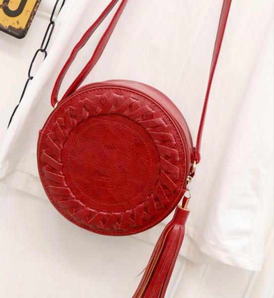 filles mignonnes Hangbags été tissé en cuir PU femmes petite mini sacs à bandoulière femelle embrayage bandoulière sac porte-monnaie bourse B180093