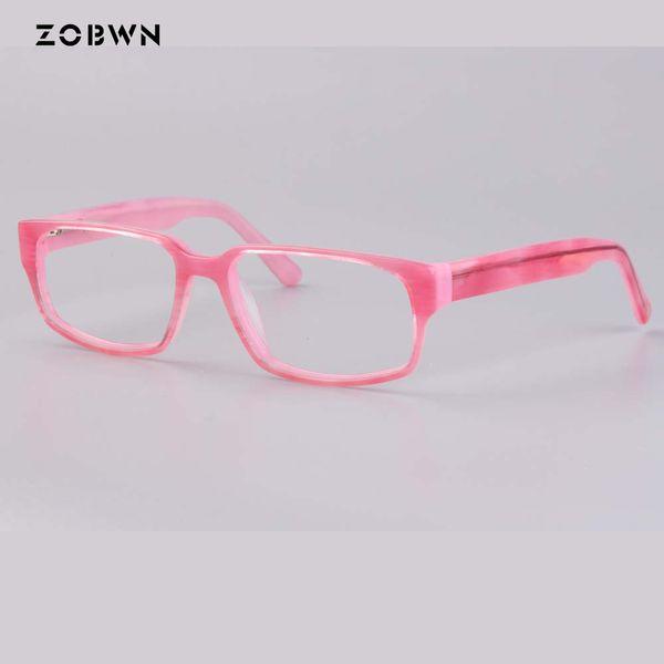 Pink women glasses fashion eyeglasses for myopia presbyopia computer spectacle oculos de grau feminino girls students young lady