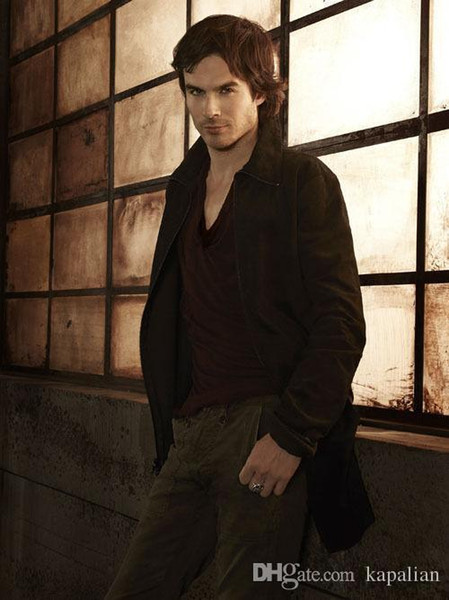 Free Shipping The Vampire Diaries Ian Somerhalder TV Show High Quality Art Posters Print Photo paper 16 24 36 47 inches