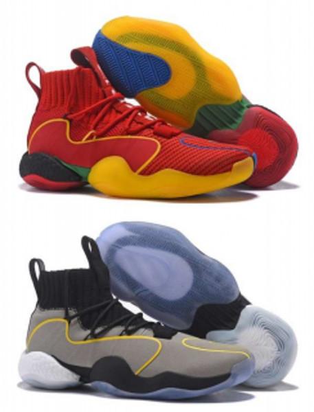 2018 Fashion Crazy Byw I Socks Basketball Shoes Mens Grey Pharrell X Ambition PK Designer Skateboard Fly Line Trainer Tennis Sneakers 40-46