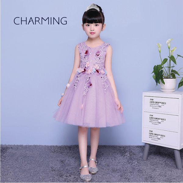 Baby girl party dress children frocks designs School season Graduation ceremony performance dress Dancing piano wedding evening dress