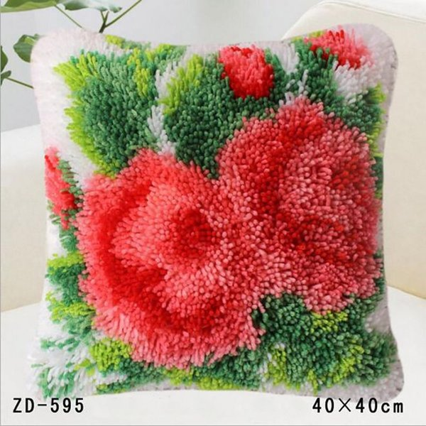 Fashion Design Flower Series Uncompleted Handmade Pillowcase Cushion Cover Home Sofa Car Bedding Wedding Decoration Needlework