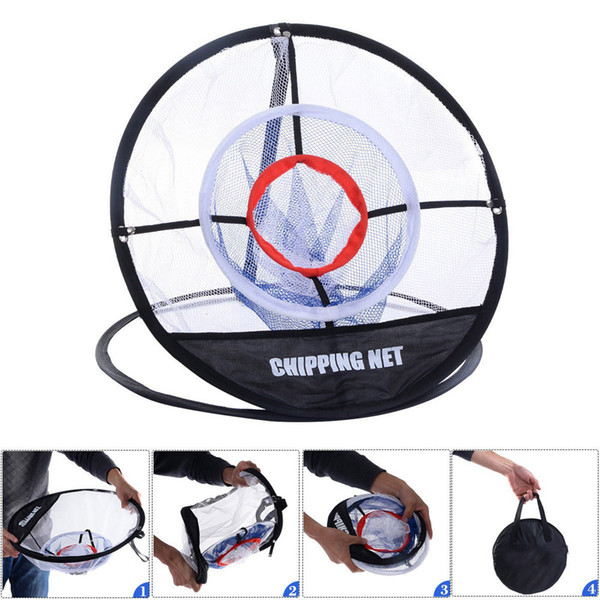 top popular Golf practice net Indoor Outdoor Chipping Pitching Cages Mats Golf Training Aids Metal + Net 2019