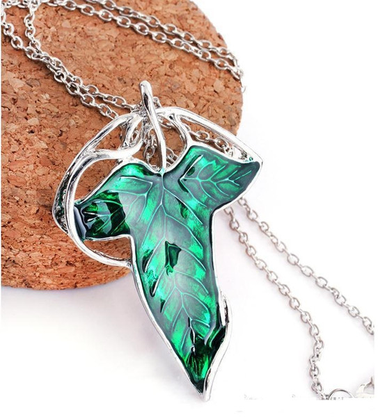 New Hot Movie Film The Lord Of The Rings Elven Leaf Pendant Arwen Evenstar Pendant Amphibious Christmas Gift a622