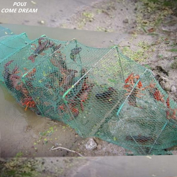 POUI COME DREAM Length 10m 33sections 20 Inlet Fishing Cage Ground Cage Pesca Fishing Net China Lobster Trap Crab Cage to Fish