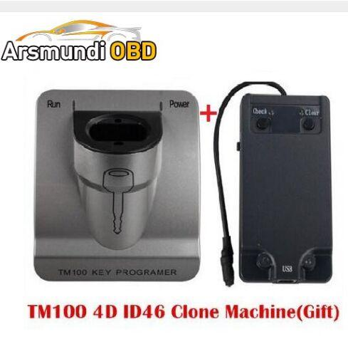 2018 Release V3.48 TM100 Transponder Key Programmer + ID46 Cloner Program ,Car Key programming machine TM 100 KEY COPY TOOL