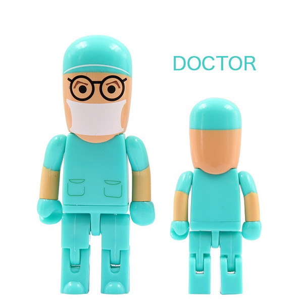 Best gift pendrive cartoon U Disk Doctor USB flash drive Nurse memory stick cute 128gb pen drive U49 new arrival