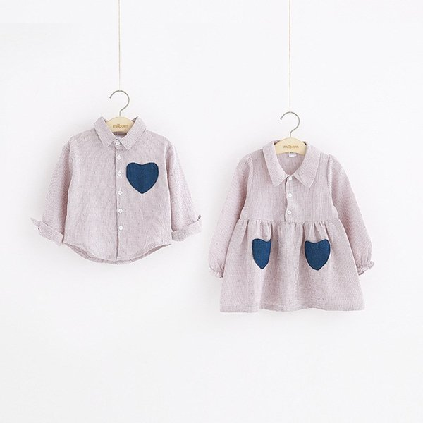 e213d0cd81b30 Big Sister Little Sister Dress Shirt Sisters Matching Outfits Atummn  Brother And Clothes Matching Plaid Shirts Matching Outfits For Mother And  ...