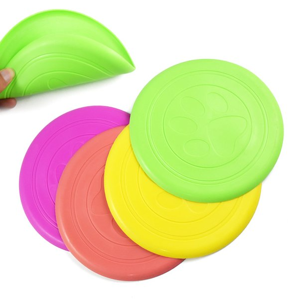 Pet Dog Frisbee Disk Soft Silicone Flying Disc Pet Toy Training For Large, Pack of 300 Non-Toxic Silicone 5 Color Select