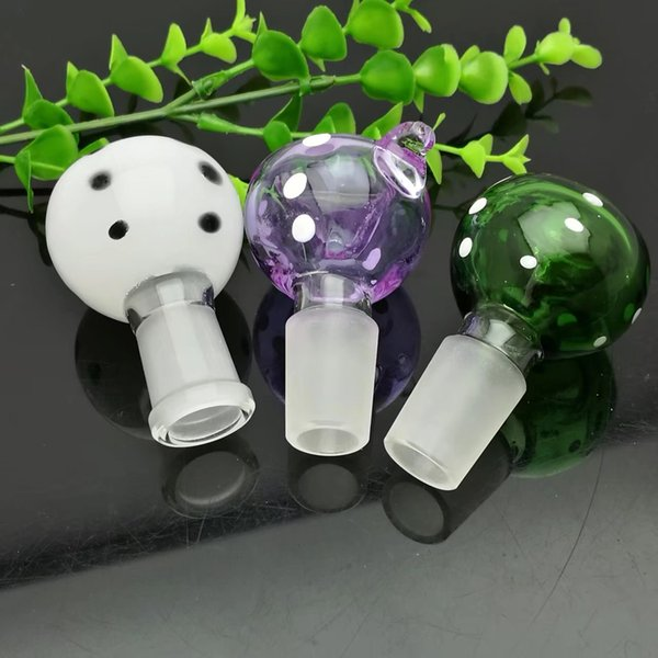 Coloured dot hook glass foam head glass bong water pipe Titanium nail grinder, Glass Bubblers For Smoking Pipe Mix Colors
