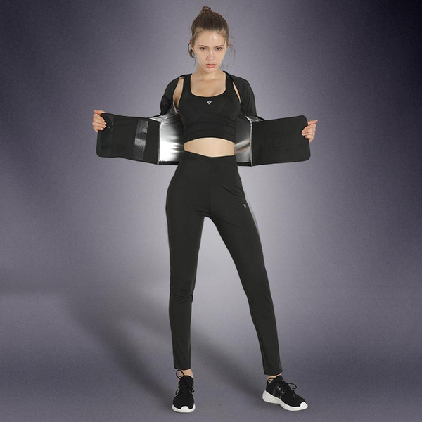 Women Body Shaper Sweating Clothing Shockproof Bra Fitness Tights Sets Slimming Thermal Corsets Body-building Sports Suits 3pcs