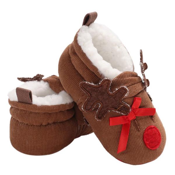 Newborn Baby Girl Crib Chaussures Enfant Première Chaussures Bébé Semelle Souple Baskets 0-18 M