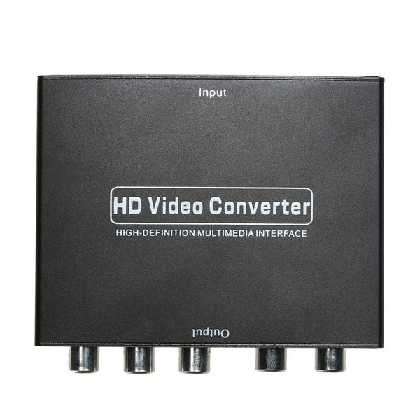 Yüksek Kaliteli HDMI 5 rca RGB Bileşen YPbPr Video + R / L Ses Adaptörü Dönüştürücü HDTV Toptan