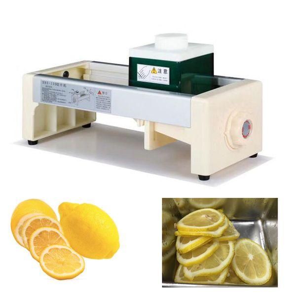 Manuelle Gemüse Slicer kommerziellen Kartoffel Zitrone Apfel Slicer Hand Obst Schneidemaschine Saft Shop Bar Dicke einstellbar 1-10mm