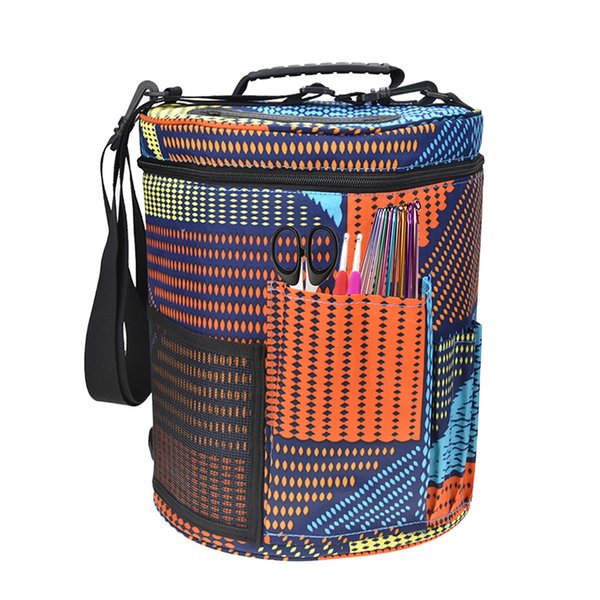 Yarn Case Yarn Storage Knitting Bag Big Capacity Women Home Crochet Hooks Thread Storage Bag DIY Sewing Kit colo