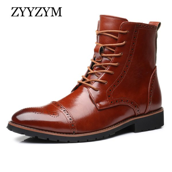 Klassische Stil British Herbst 2019 Plus 38 Brogue Winter Und Großhandel Stiefel Martin Zyyzym Herren Größe 48 Sneakers Lederstiefel sdCthQxBor