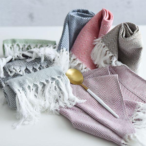 top popular highquality tea towels cotton napkins table napkins home kitchen servetten wedding cloth napkins 2021
