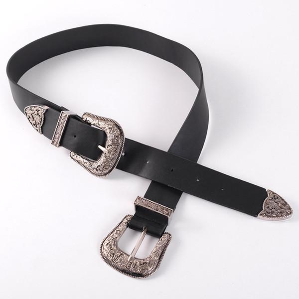 Cinturones de diseño para mujeres de alta moda de oro y plata hebilla de aguja Vintage PU correa INS venta caliente cinturones envío gratis