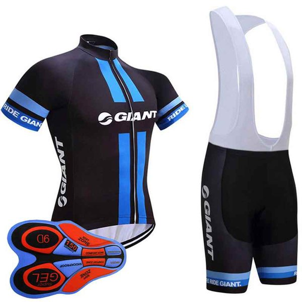 2018 Giant cycling Team jersey gel pad bike shorts ropa ciclismo mens summer Tour Bicycling Maillot Culotte clothing set 10513J