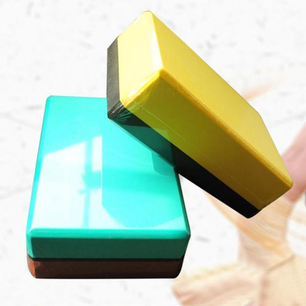 1 Pcs Anti-Slid Eva High Density Practice Yoga Block For Home Fitness Gym Exercise double Colors j3