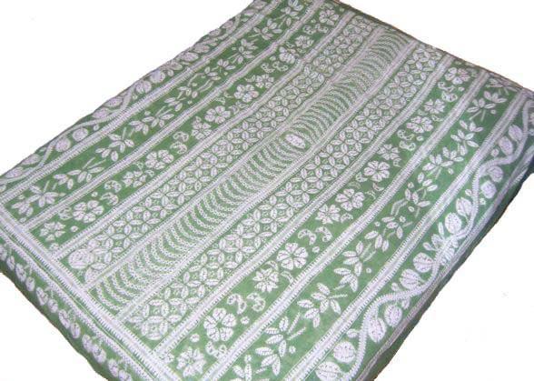 100% Handmade Batik Art Pure Cotton Bed Sheet Spread Linen Bedding - King #225