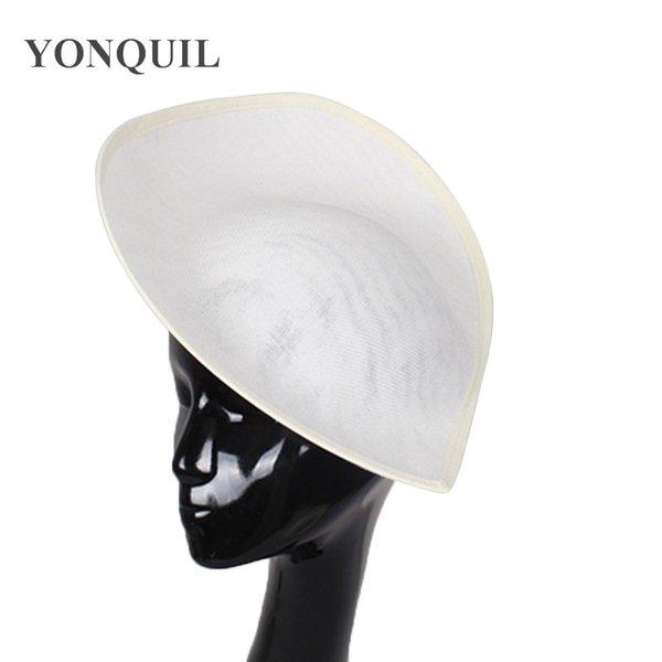 2018 New arrival Imitation SINAMAY 30CM ivory big Fascinator Base derby church hat party headwear wedding DIY hair accessories SYB05