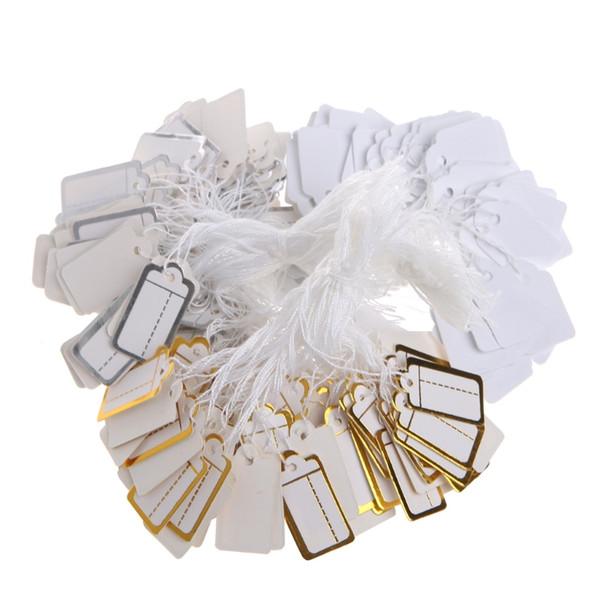 Бумага ювелирные изделия ценники нанизанные ценник с строка золото и серебро магазин Аксессуары необходимость ярлык бирка бумаги